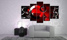 CIRCLES LEINWAND-SET 5 TEILE DIGITAL ART M51439 BESPANNT AUF KEILRAHMEN | eBay