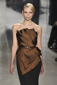 Donna Karan - interesting folds... would look exceptional in a semi sheer so teh colour builds up!