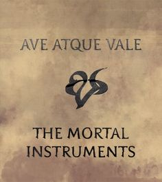 Hail and Farewell. You were absolutely amazing. Thank you, Cassie Clare.<< Oh my gosh that makes me so so so sad. Hail and Farewell Mortal Instruments.