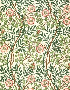 "letheantorpor:  "" William Morris wallpaper  """