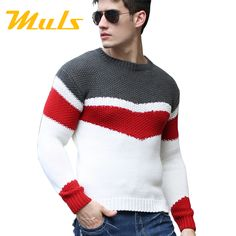Sweater men pullover brand polo men sweater hombre clothing wool acrylic winter dress thick shirt O neck striped full 888017-in Pullovers from Men's Clothing & Accessories on Aliexpress.com | Alibaba Group