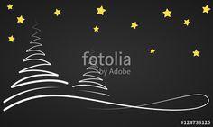 Vektor: Weihnachten - Winternacht Banner (Schwarz/ Gold)