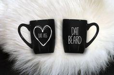 BOGO BLACK FRIDAY Mug Set Dat Ass/ Dat Beard  by SugarPopMugs