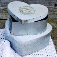 Hjärtformade zinkburkar med änglar i 2-pack