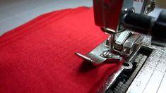 Шитье трикотажа и обметка срезов на простой швейной машине без оверлока