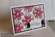 Stampin up garden in bloom stampset. 1 of the cards I made in a set of 5. STAMP WITH RACHEL