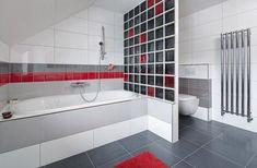 Řada Color One - šedé a červené obkladačky ve formátu 15 × 15 cm - se dnes...