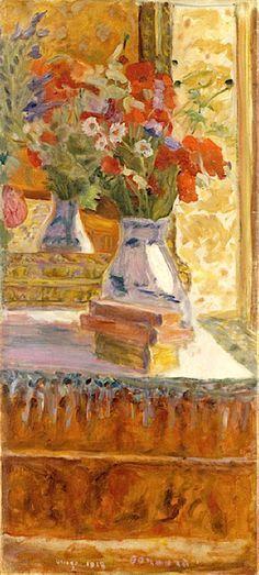 ❀ Blooming Brushwork ❀ - garden and still life flower paintings - Pierre Bonnard / Bouquet de coquelicots,1918