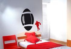 Sticker rugby le ballon pour déco sportive de chambre par Décorécébo