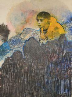 Mare Monstrum: Les peintures poignantes du périple des migrants par une artiste grecque|Georges Ranunkel Samos, Painting, Artists, Painting Art, Paintings, Painted Canvas, Drawings