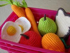 Hæklede grøntsager
