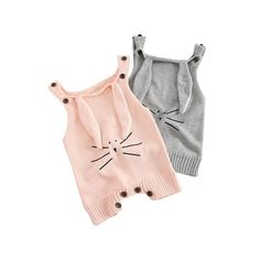 Update your little fashionista's wardrobe with this simple yet stylish Knitted Rabbit Romper. Pair it with a cute pair of booties for a playground ready look.