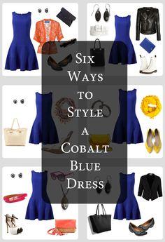 Six Ways to Style a Cobalt Blue Dress + Casey Sharpe Jewelry