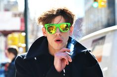 neon, sunglasses, nyfw