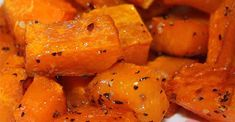 Roasted butternut squash with garlic is a quick and easy side dish ready in less than an hour for a weeknight or a holiday gathering. I added cinnamon a sprinkle of brown sugar using coconut oil instead of olive oil with salt/pepper Vegetable Side Dishes, Side Dishes Easy, Butter Squash Recipe, Vegetable Recipes, Vegetarian Recipes, Healthy Recipes, Keto Recipes, Side Recipes, Family Recipes