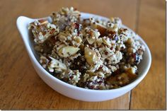 Quinoa granola! This is from my new favorite Vegan Blogger!. Hungry Hungry Hippie