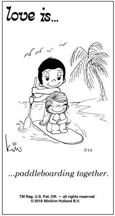 ...paddleboarding together.