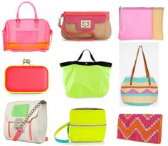 We're loving the neon trend for Spring via @College Fashion