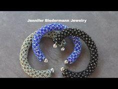 Regal netted crystal bracelet tutorial - YouTube