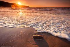 Beach of Procchio at sunset Elba Island Tuscany Italy