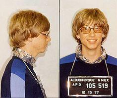 Bill Gates behind bars.