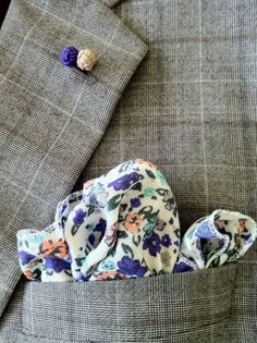 Floral Pocket Square. $9.95, via Etsy. Women, Men and Kids Outfit Ideas on our website at 7ootd.com #ootd #7ootd