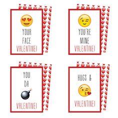 Printable Emoji Valentines   Downlable Valentine's Cards   Emojis   Valentine's Cards by KateOGroup on Etsy https://www.etsy.com/listing/262814240/printable-emoji-valentines-downlable