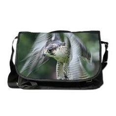 Falconry Messenger Bag> Peregrine Falcon> Rosemariesw Design Photo Gifts
