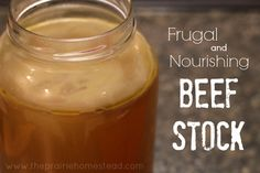 Homemade Beef Stock  ~  Process pints 20 minutes at 10 pounds pressure OR process quarts for 25 minutes at 10 pounds pressure.
