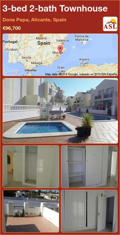 3-bed 2-bath Townhouse in Dona Pepa, Alicante, Spain ►€96,700 #PropertyForSaleInSpain
