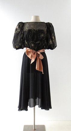 20% off sale Vintage 1980s Dress  Sparkler by SmallEarthVintage