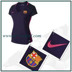 Originele Barcelona Uitshirt Vrouwen Purper Nike 2016 2017