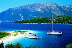 Meganissi island.A little paradise in the Ionian sea nearby Lefkada island.