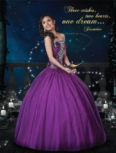 Disney Royal Ball Quinceanera Dress Jasmine Style 41030