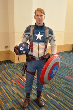 """Captain America 120331-1253 NashiCon by WashuOtaku, via Flickr"" — I approve of your awesome cosplay AND your face! :-)"