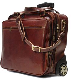 d60f751a1391 Fenzo Italian Bags · Leather Briefcases · The Monticello Rolling Men s  Leather Briefcase Bag by Floto is one of the most stylish