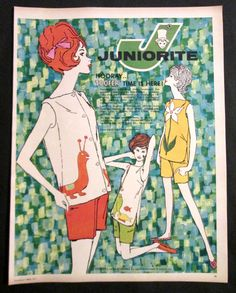 Vintage 1961 Juniorite Summer Fashion ad