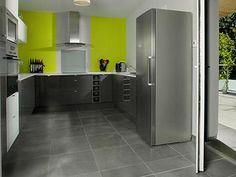 Meuble de cuisine vert delinia milano kitchen project for Meuble cuisine vert anis
