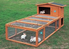diy rabbit hutch with run - Google Search