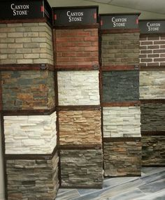 We now carry Canyon Stone! Available in various lightweight manufactured stone veneers faux stone sidings & natural stone veneer panels they're designed for use in both interior & exterior walls by celebretile Stone Veneer Panels, Faux Stone Panels, Faux Panels, Brick Veneer Wall, Faux Brick Wall Panels, Canyon Stone, Faux Stone Siding, Stone Cladding Exterior, Stone Veneer Exterior