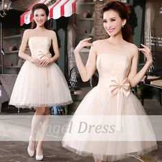 Short Prom Dress / Champagne Bridesmaid Dress/ by angeldress2014, $89.00