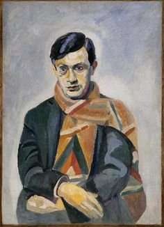 Portrait of Tristan Tzara by Robert Delaunay The scarf was designed by Sonia Delaunay. Tristan Tzara, Sonia Delaunay, Robert Delaunay, Jean Arp, Dada Art Movement, L'art Du Portrait, Avantgarde, Francis Picabia, Great Works Of Art