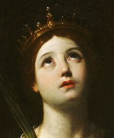 Catherine of Alexandria (detail) - Guido Reni. Renaissance Kunst, Renaissance Paintings, Classic Paintings, Old Paintings, Baroque Art, Baroque Painting, Famous Art, Art Hoe, Classical Art