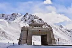A gateway along the Karakoram Highway to Pakistan