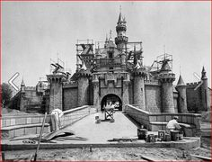 Construction of Disneyland, California, 1954.