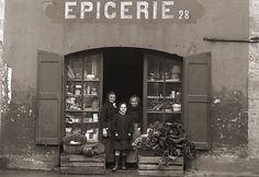 Photo ancien commerce Toulouse Magasin Epicerie Primeur légumes repro an.1920