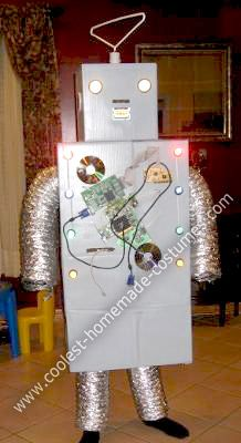 coolest homemade halloween techybot robot costume - Halloween Box Costumes