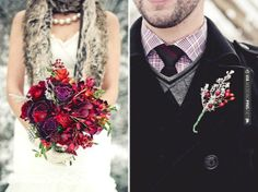 Fantastic - Winter Wedding Flowers | CHECK OUT MORE GREAT RED WEDDING IDEAS AT WEDDINGPINS.NET | #weddings #wedding #red #redwedding #thecolorred #events #forweddings #ilovered #purple #fire #bright #hot #love #romance #valentines