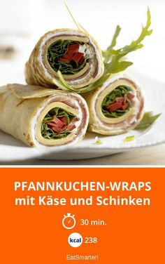 Pfannkuchen-Wraps - mit Käse und Schinken - smarter - Kalorien: 238 kcal - Zeit: 30 Min. | eatsmarter.de