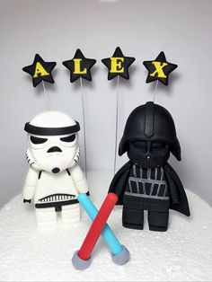 Torta de Star Wars fondant por SugarDecorByLetty en Etsy